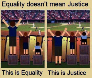 equality versus fairness
