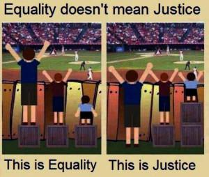 equality versus fairness